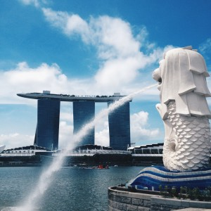 Merlion + Marina Bay Sands