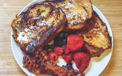 Eggnog Challah French Toast